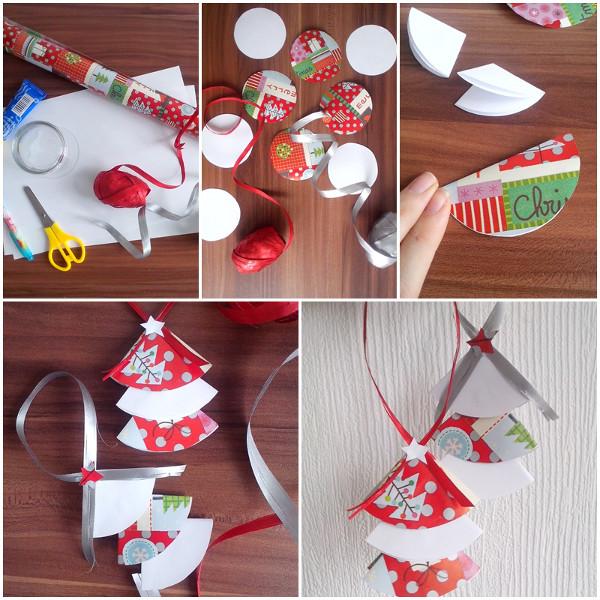 Jak Zrobić Proste Ozdoby świąteczne Choinkowe Z Papieru