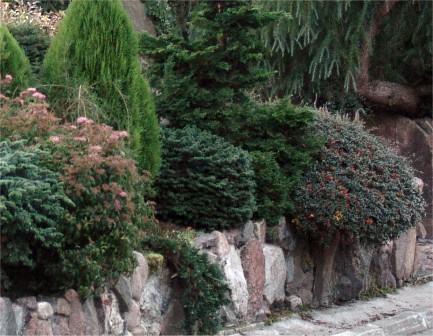 murek oporowy z kamienia naturalnego