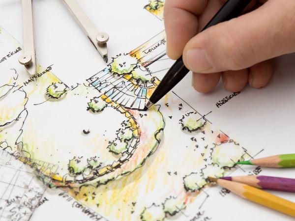 projekt koncepcyjny zagospodarowania terenu ogrodu przydomowego. Black Bedroom Furniture Sets. Home Design Ideas