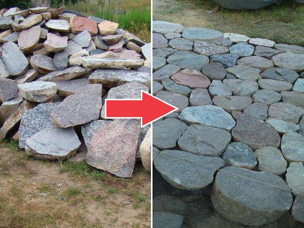 Oryginał Układanie ścieżki z kamienia polnego krok po kroku TL21